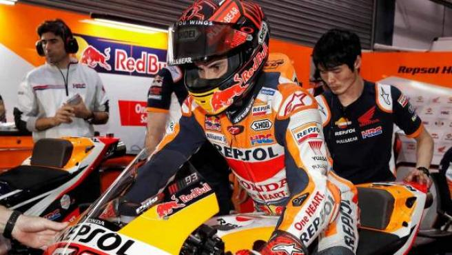 Marc Márquez, en los test de MotoGP en Catar.