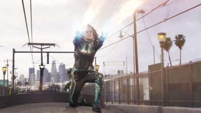 Carol Danvers (Brie Larson) es la primera mujer en protagonizar una película del universo marvelita.