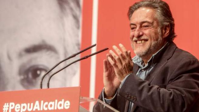 Acto en el que Pepu Hernández se presenta como posible candidato del PSOE al Ayuntamiento de Madrid.
