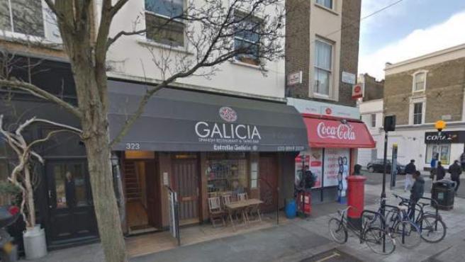 Fachada del bar 'Galicia', en la londinense calle de Portobello Road.