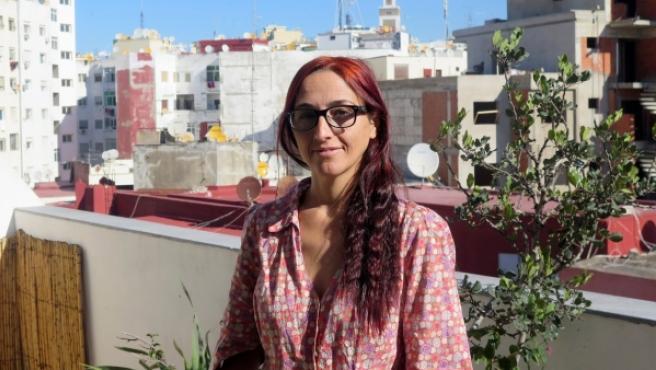 """La activista pro derechos de los emigrantes Helena Maleno, durante una entrevista tras conocerse el archivo de su causa por """"fomentar la emigración ilegal"""" y """"tráfico de seres humanos""""."""