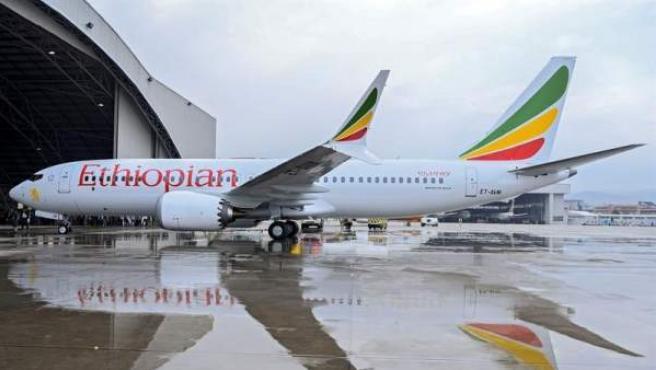 Un avión Boeing 737 Max 8 de Ethiopian Airlines, en una imagen de archivo.