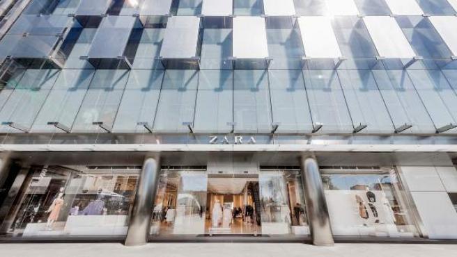 Imagen de una tienda Zara en el Paseo de la Castellana de Madrid.