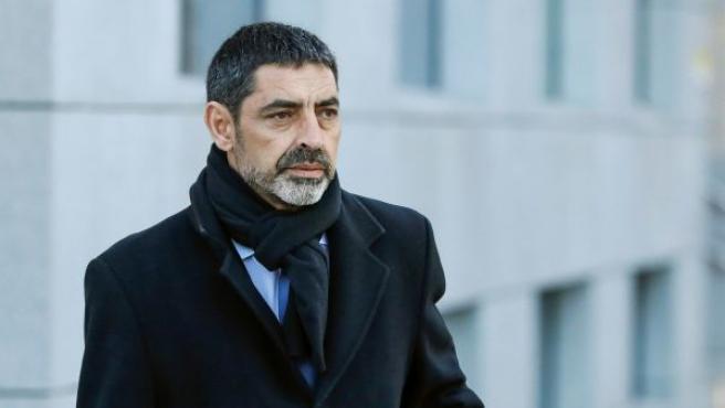El exjefe de los Mossos d'Esquadra Josep Lluis Trapero a su llegada a la Audiencia Nacional para afrontar su tercera comparecencia ante la juez Lamela.
