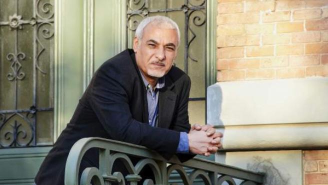 El escritor iraquí Mushin Al-Ramli en Madrid.