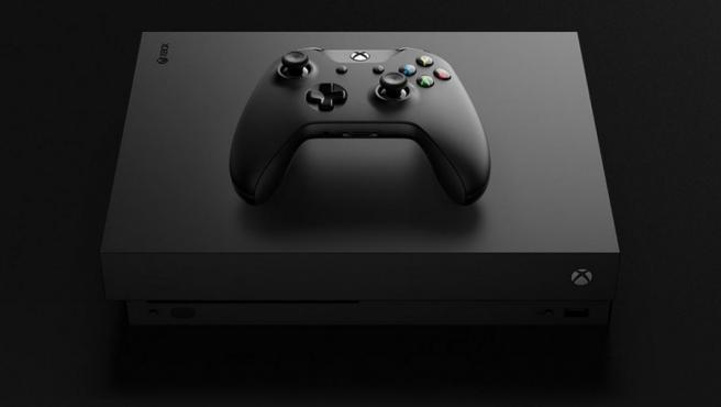 La consola Xbox One X.