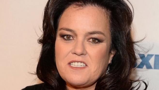La actriz y productora Rosie O'Donnell en un evento de televisión.