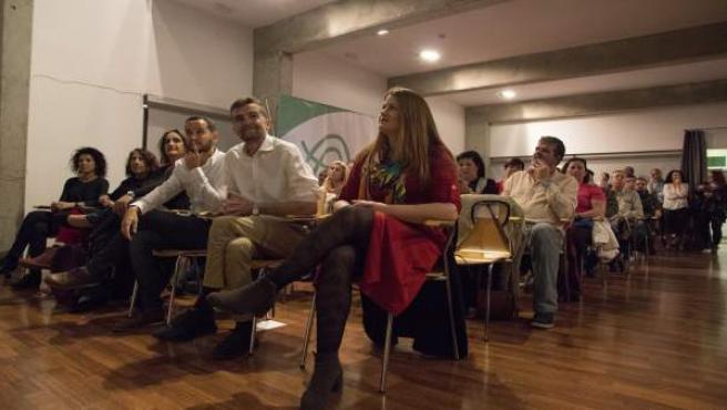 Sevilla.- 26M.- Maíllo (IU) y Aguilera (Podemos) respaldan la candidatura de Ade