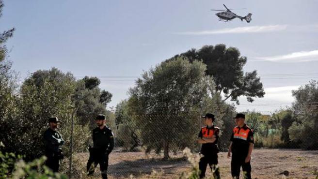 Dispositivo de la Guardia Civil en Godella (Valencia).