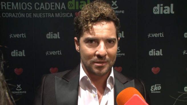 David Bisbal, en los premios Cadena Dial.