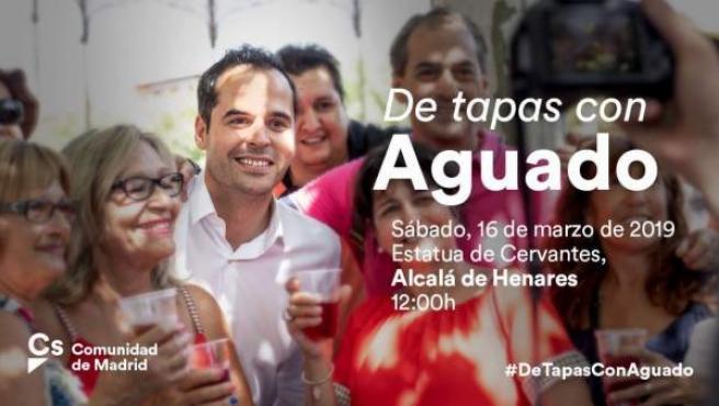 Imagen promocional de la actividad 'de tapas con Aguado'.