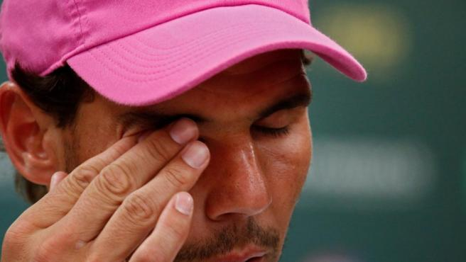 El balear se retiró de Indian Wells por sus problemas en la rodilla.