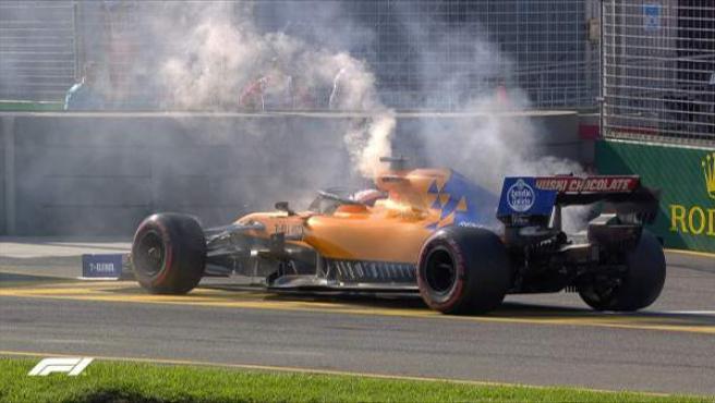 La rotura de Carlos Sainz en el GP de Australia.
