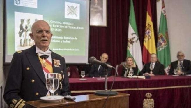 Cádiz.- 28A.- El general de Infantería de Marina Agustin Rosety Fernández de Cas