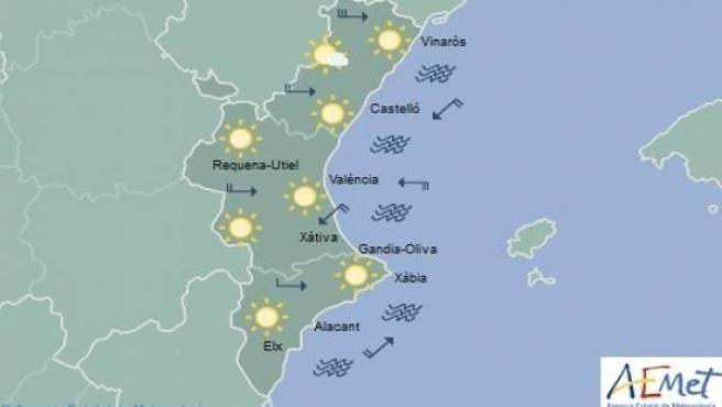 Domingo caluroso en el litoral de la Comunitat Valenciana con temperaturas que r