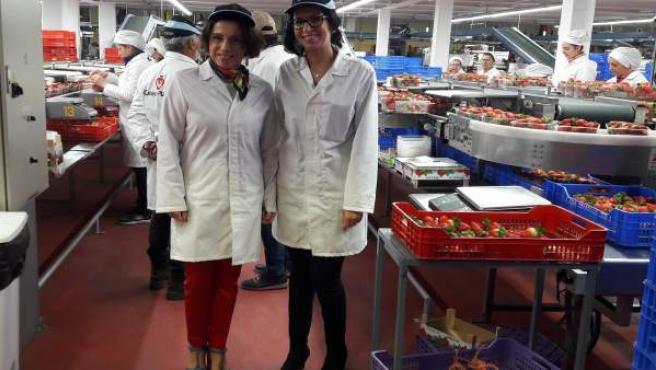 Huelva.- Rocío Ruiz destaca al sector de los frutos rojos como 'ejemplo de integ