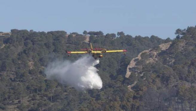 Incendios.- Murcia envía 31 efectivos al incendio declarado en Paterna del Mader
