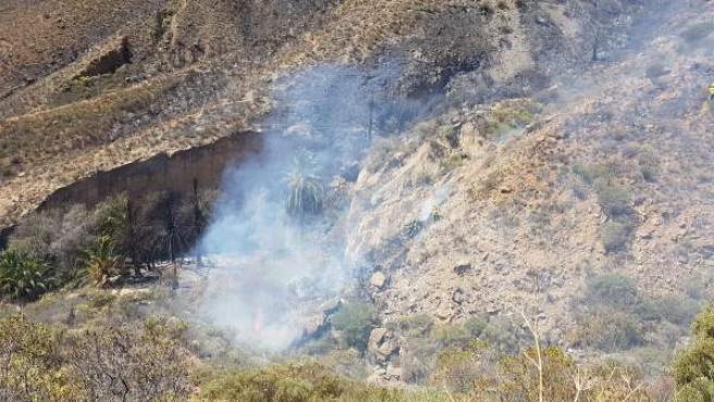 Descartan que el incendio de Fataga (Gran Canaria) se haya producido por causas