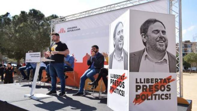 Rufián (ERC) califica de 'demostración de fuerza' la manifestación independentis