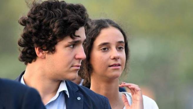 Felipe Juan Froilán y Victoria Federica de Marichalar, hijos de la infanta Elena, en una imagen de archivo de 2017.