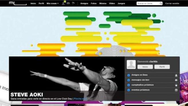 'Homepage' del portal MySpace.