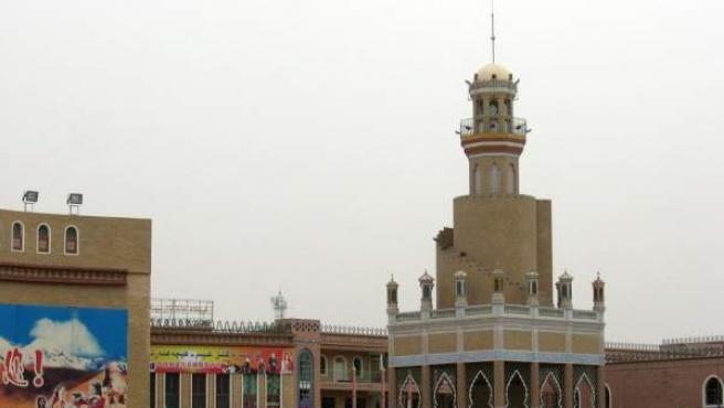 Mezquita en la región de Xinjiang, en China.