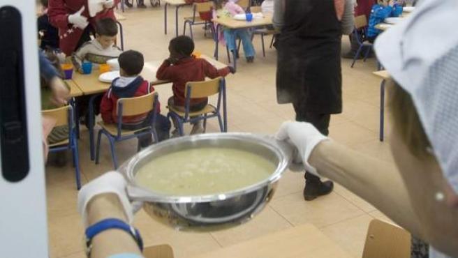 Servicio de comedor de un centro educativo de Andalucía.