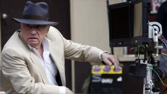 El director Martin Scorsese, en el set de rodaje de la película 'The Irishman', de Netflix.