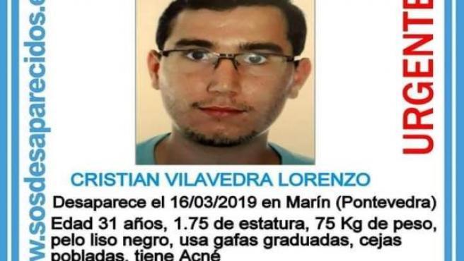 Buscan a un joven de 21 años desaparecido en Marín (Pontevedra) desde el pasado