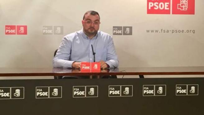 Adrián Barbón, secretario general de la FSA-PSOE
