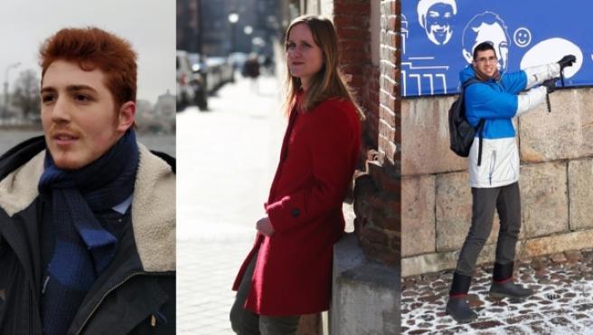 José, Inés y Fran, tres estudiantes con discapacidad que han viajado de la mano del programa Erasmus.