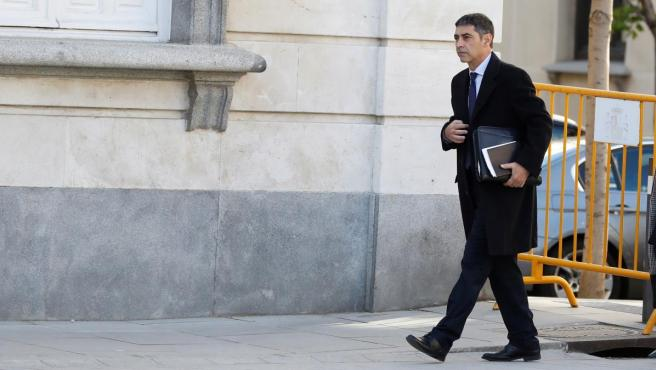 Josep Lluís Trapero, a su llegada al juicio del procés, el pasado jueves 14 de marzo.