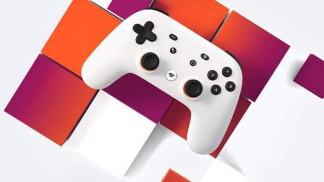 Un mando de Stadia de Google, el servicio de 'streaming' para videojuegos.