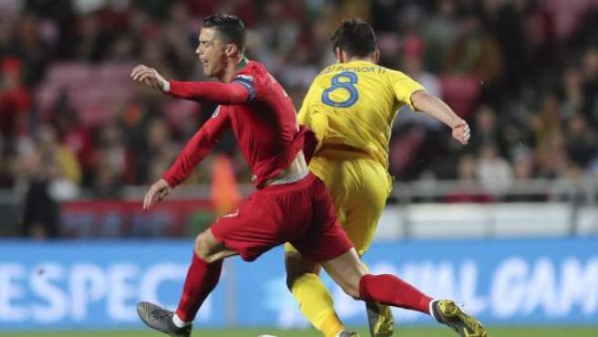 Cristiano Ronaldo, en el Portugal-Ucrania.