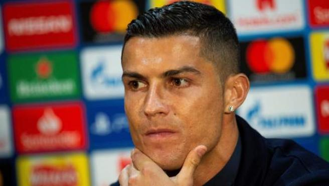 Cristiano Ronaldo, en rueda de prensa.