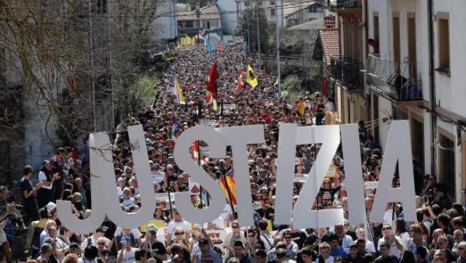 Manifestación contra la sentencia del caso Alsasua.