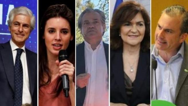 De izq. a dcha., Súarez Illana, Montero, De Quinto, Calvo y Ortega