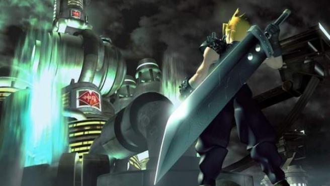Ilustración que muestra de espaldas a Cloud, el protagonista de 'Final Fantasy VII'.
