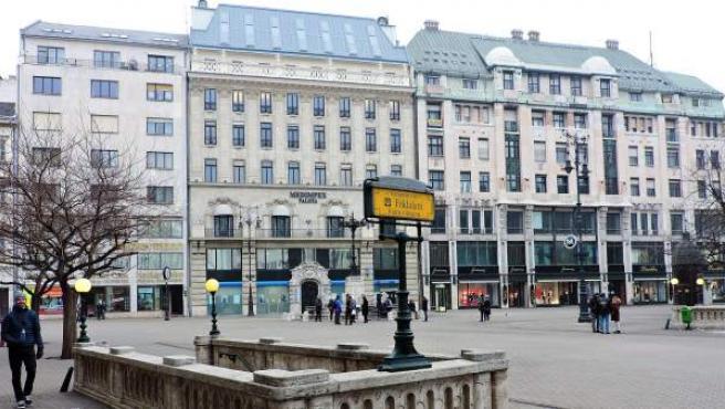 La plaza Vörösmarty, en Budapest (Hungría), en una imagen de archivo.