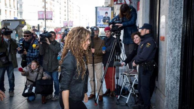Shakira a su llegada al Juzgado de lo Mercantil número 12 de Madrid.