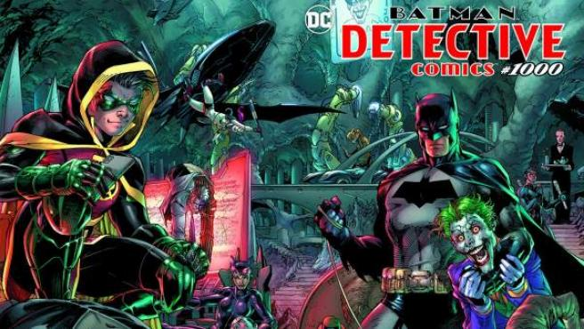 Portada y contraportada del número 1.000 de la serie 'Detective Comics', de DC.