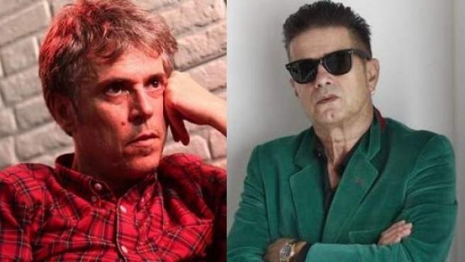Los músicos Iván Ferreiro (i) y Santiago Auserón.