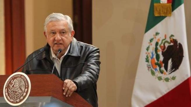 El presidente mexicano, Andrés Manuel López Obrador, durante un acto protocolario en Ciudad de México.
