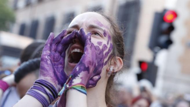 Imagen de la manifestación en Madrid contra 'La Manada'.