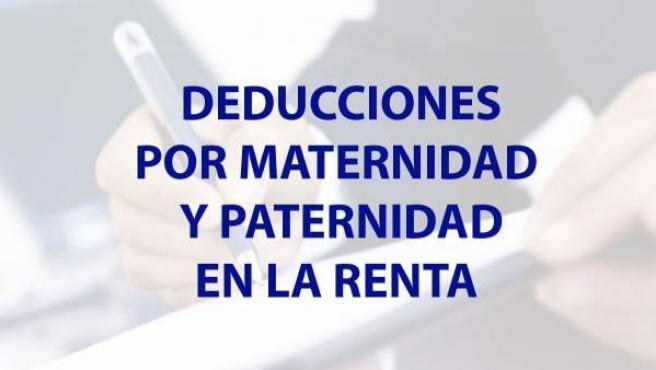Deducciones por paternidad y maternidad en la Renta.