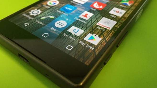 Google Play Store, en un teléfono móvil.