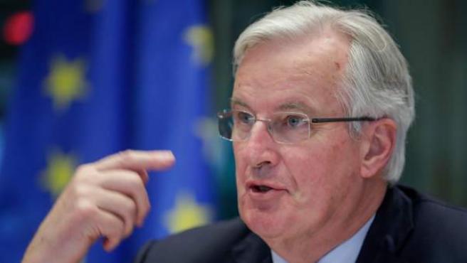 El negociador europeo para el 'brexit', Michel Barnier, comparece ante la comisión de Exteriores del Parlamento Europeo.