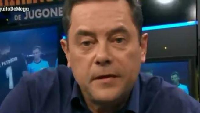 Tomás Roncero, en 'El Chiringuito' de Mega.