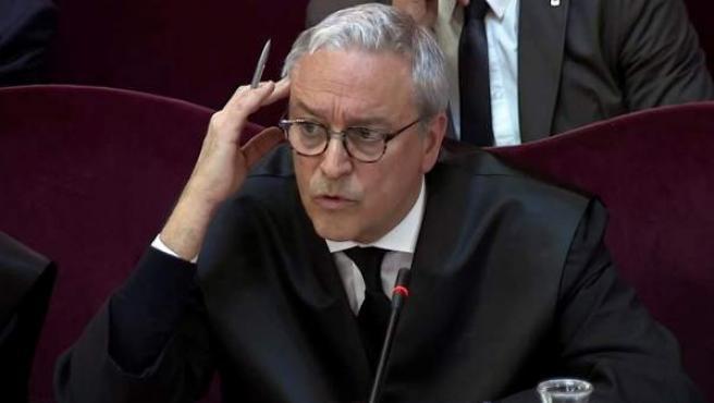 """Xavier Melero, abogado de Joaquim Forn, en el juicio del """"procés""""."""