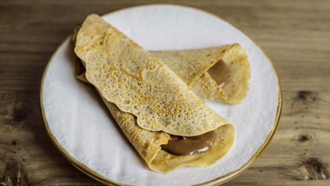 Crepes de avena sin huevo y con chocolate